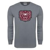 Charcoal Long Sleeve T Shirt-Bear Head