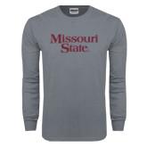 Charcoal Long Sleeve T Shirt-Missouri State
