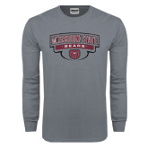 Charcoal Long Sleeve T Shirt-Arched Missouri State Bears Shield
