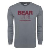 Charcoal Long Sleeve T Shirt-Bear Up!