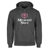 Charcoal Fleece Hoodie-Bear Head Missouri State Stacked
