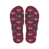 Full Color Flip Flops-Bear Head Missouri State Stacked