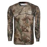 Realtree Camo Long Sleeve T Shirt w/Pocket-Bear Head