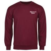 Maroon Fleece Crew-Missouri State
