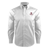 Red House White Dobby Long Sleeve Shirt-Bear Head Missouri State Stacked