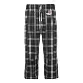 Black/Grey Flannel Pajama Pant-Bear Head Missouri State Stacked