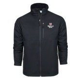 Columbia Ascender Softshell Black Jacket-Bear Head Missouri State Stacked