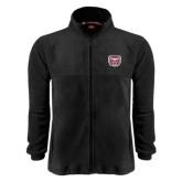 Fleece Full Zip Black Jacket-Bear Head