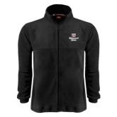 Fleece Full Zip Black Jacket-Bear Head Missouri State Stacked