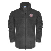 Columbia Full Zip Charcoal Fleece Jacket-Bear Head