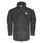 Columbia Full Zip Charcoal Fleece Jacket-Bear Head Missouri State Stacked
