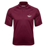 Maroon Textured Saddle Shoulder Polo-Bear Head Missouri State Stacked