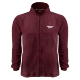 Fleece Full Zip Maroon Jacket-Bear Head Missouri State Stacked