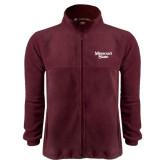 Fleece Full Zip Maroon Jacket-Missouri State