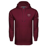 Under Armour Maroon Performance Sweats Team Hood-Bear Head