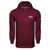 Under Armour Maroon Performance Sweats Team Hood-Bear Head Missouri State Stacked