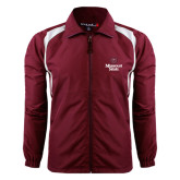 Colorblock Maroon/White Wind Jacket-Bear Head Missouri State Stacked