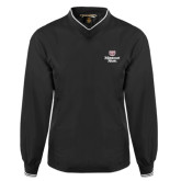 Black Executive Windshirt-Bear Head Missouri State Stacked