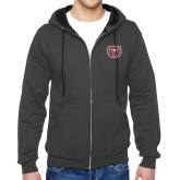 Charcoal Fleece Full Zip Hoodie-Bear Head