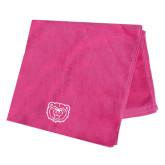 Pink Beach Towel-Bear Head