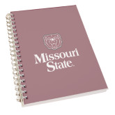 Clear 7 x 10 Spiral Journal Notebook-Bear Head Missouri State Stacked