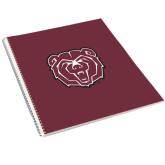 College Spiral Notebook w/Clear Coil-Bear Head