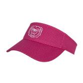 Pink Athletic Mesh Visor-Bear Head