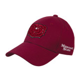 Maroon Heavyweight Twill Pro Style Hat-Bear Head