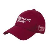 University Maroon Heavyweight Twill Pro Style Hat-Missouri State