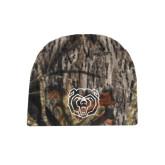 Mossy Oak Camo Fleece Beanie-Bear Head