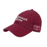 University Maroon Twill Unstructured Low Profile Hat-Missouri State