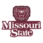 Extra Large Magnet-Bear Head Missouri State Stacked, 18 inches wide