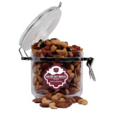 Deluxe Nut Medley Round Canister-Bear Head