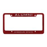 Alumni Metal Maroon License Plate Frame-Missouri State Engraved