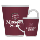 Full Color Latte Mug 12oz-Bear Head Missouri State Stacked