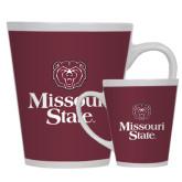 Full Color Latte Mug 12oz-Bear Head Missouri State Stacked