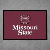 Full Color Indoor Floor Mat-Bear Head Missouri State Stacked