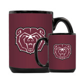 Full Color Black Mug 15oz-Bear Head