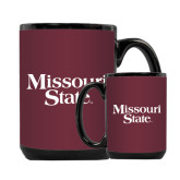 Full Color Black Mug 15oz-Missouri State