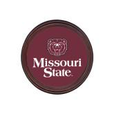 Round Coaster Frame w/Insert-Bear Head Missouri State Stacked