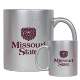Full Color Silver Metallic Mug 11oz-Bear Head Missouri State Stacked