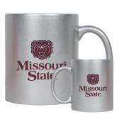 Full Color Silver Metallic Mug 11oz-Bear Head Missouri State Stacked
