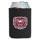 Neoprene Black Can Holder-Bear Head