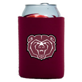 Neoprene Maroon Can Holder-Bear Head
