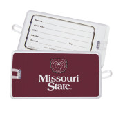 Luggage Tag-Bear Head Missouri State Stacked