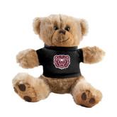 Plush Big Paw 8 1/2 inch Brown Bear w/Black Shirt-Bear Head