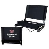 Stadium Chair Black-Bear Head Missouri State Stacked