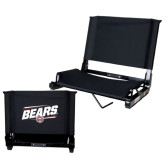 Stadium Chair Black-Slanted Bears w/ Bear Head
