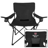 Deluxe Black Captains Chair-Bear Head Missouri State Stacked
