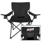 Deluxe Black Captains Chair-Slanted Bears w/ Bear Head